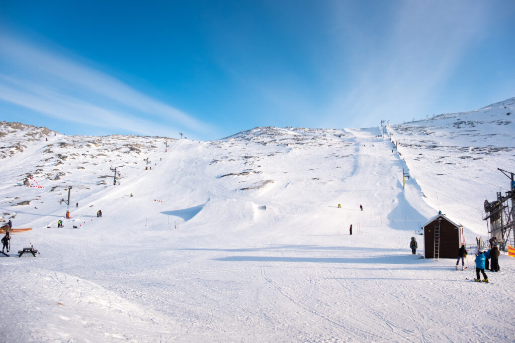 Alpine ski runs at Sisorarfiit - Nuuk's ski resort in Greenland