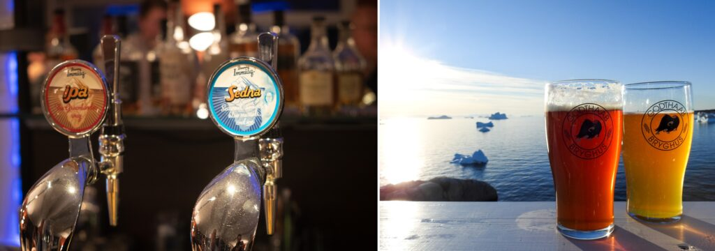 Greenlandic beer on tap and in bottles - Greenland