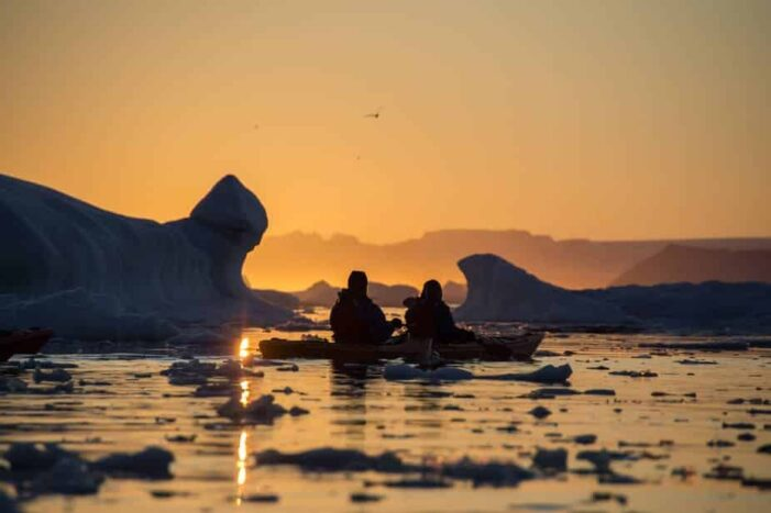 Evening Kayaking Among Icebergs | Ilulissat | Disko Bay