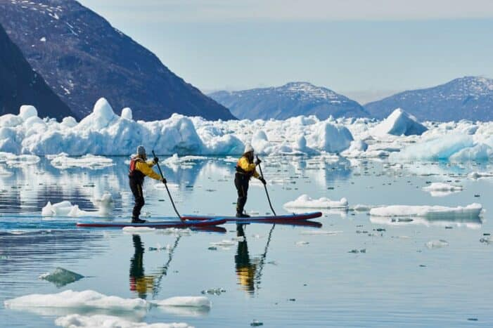 Stand Up Paddleboarding amongst the Icebergs | Nuuk | West Greenland