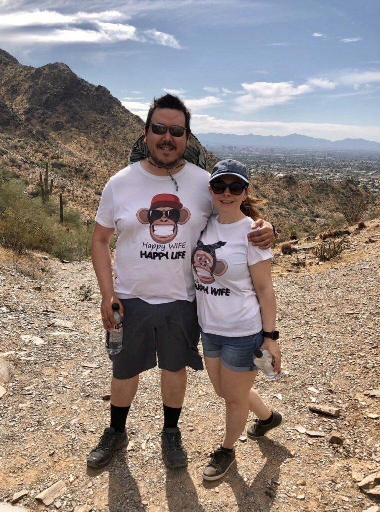 Couple on their honeymoon in USA