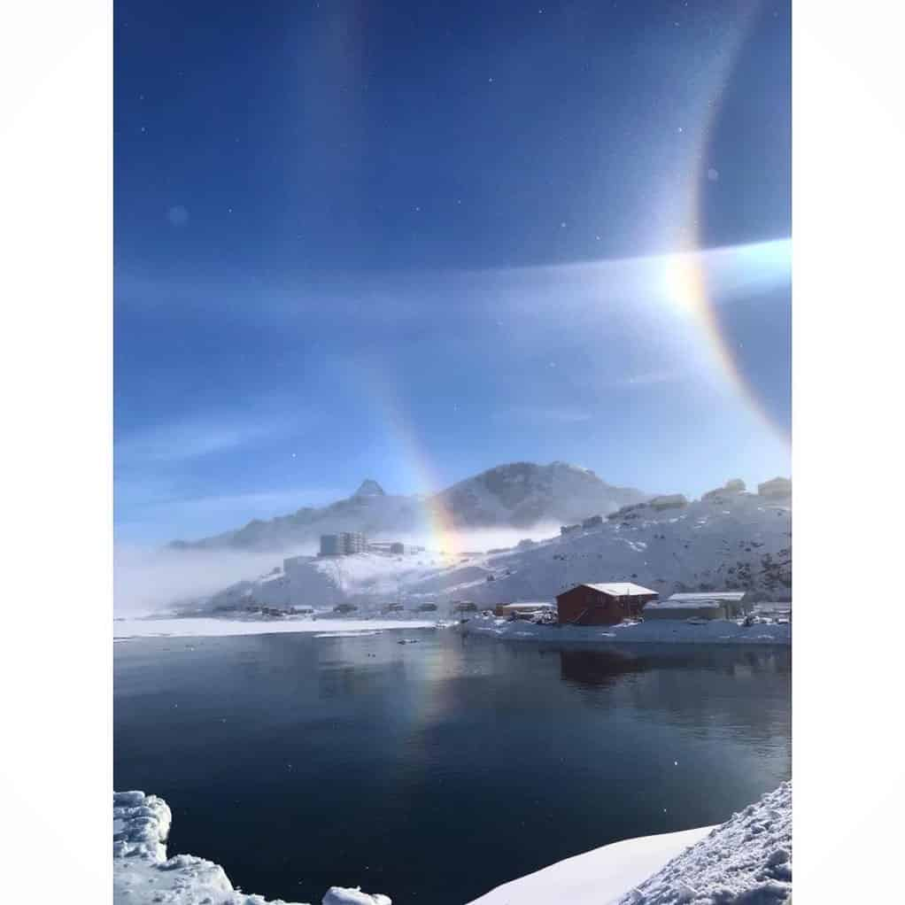 Sisimiut and a rainbow