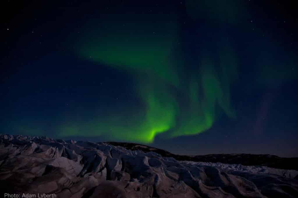 Northern Lights over the Greenland Icesheet near Kangerlussuaq