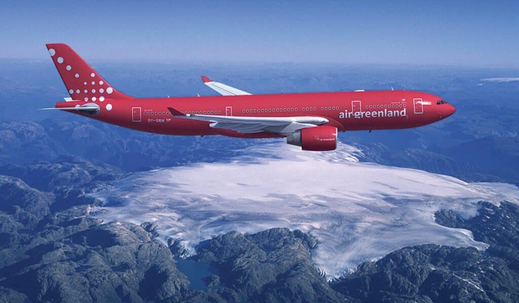 Air Greenland flight