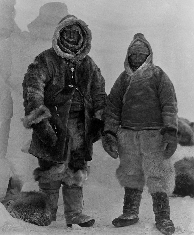 Alfred Wegener and Rasmus Villumsen Koch-Wegener expedition in 1912, Greenland