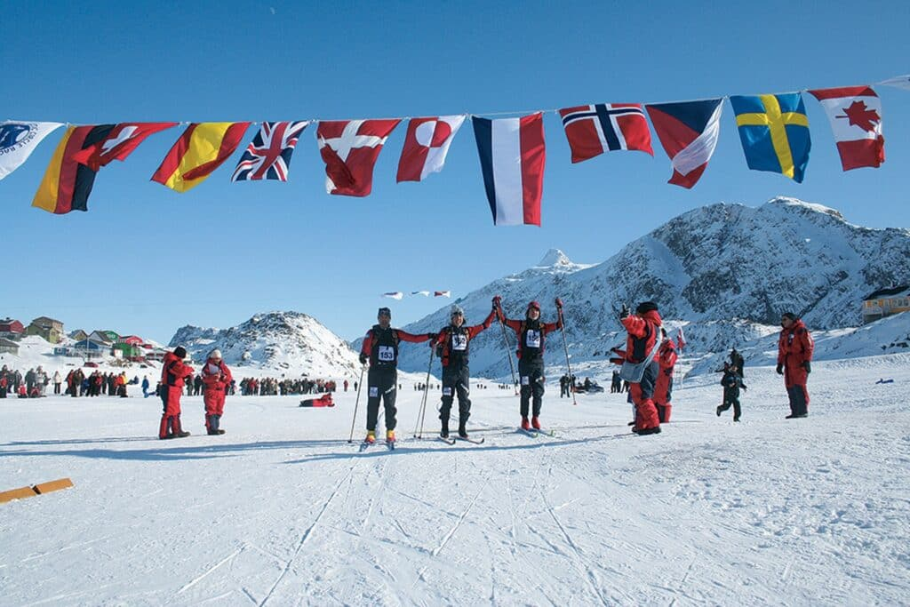 People from several nations participate in Arctic Circle Race