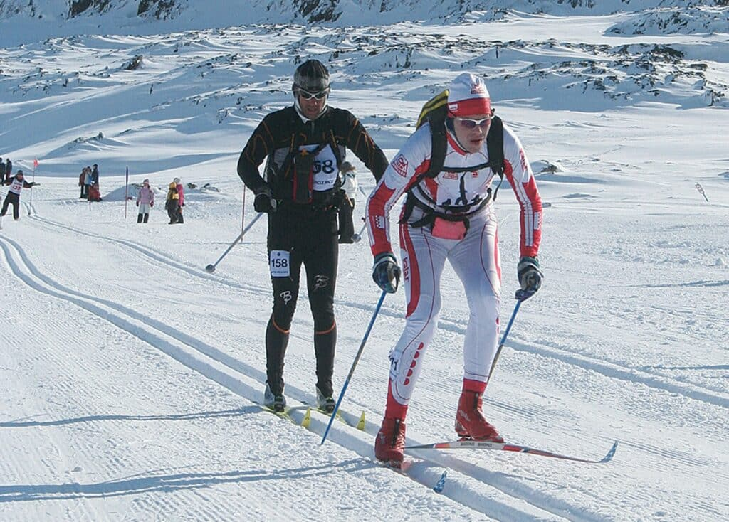 Skiers during Arctic Circle Race