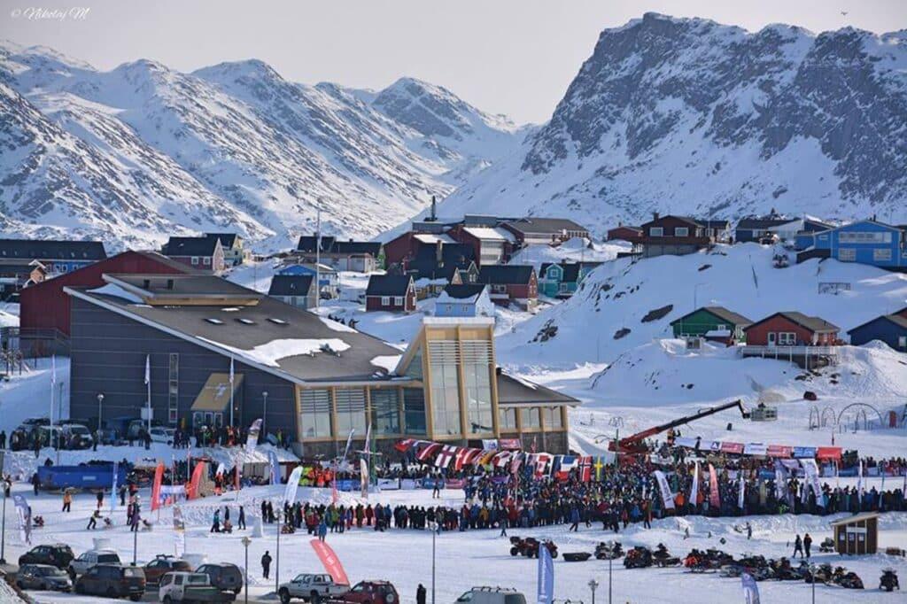 Arctic Circle Race finish line