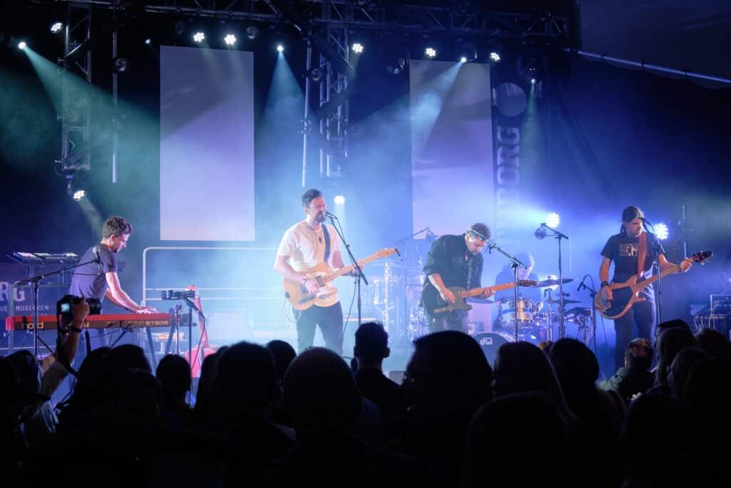 Greenlandic band, Nanook, playing at the 2019 Akisuanerit Festival