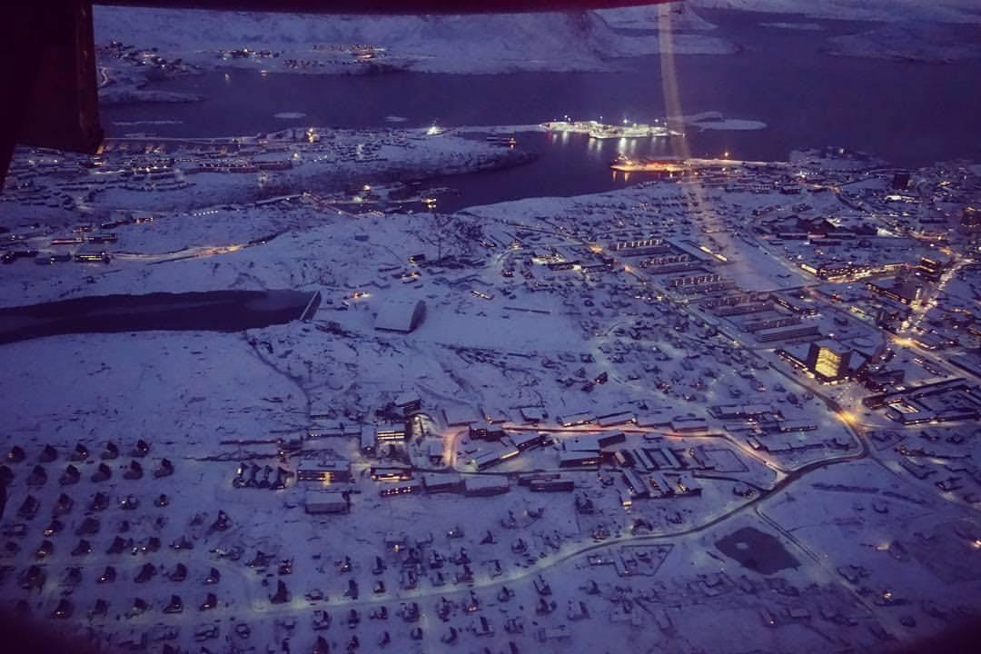Beautiful Nuuk from the sky