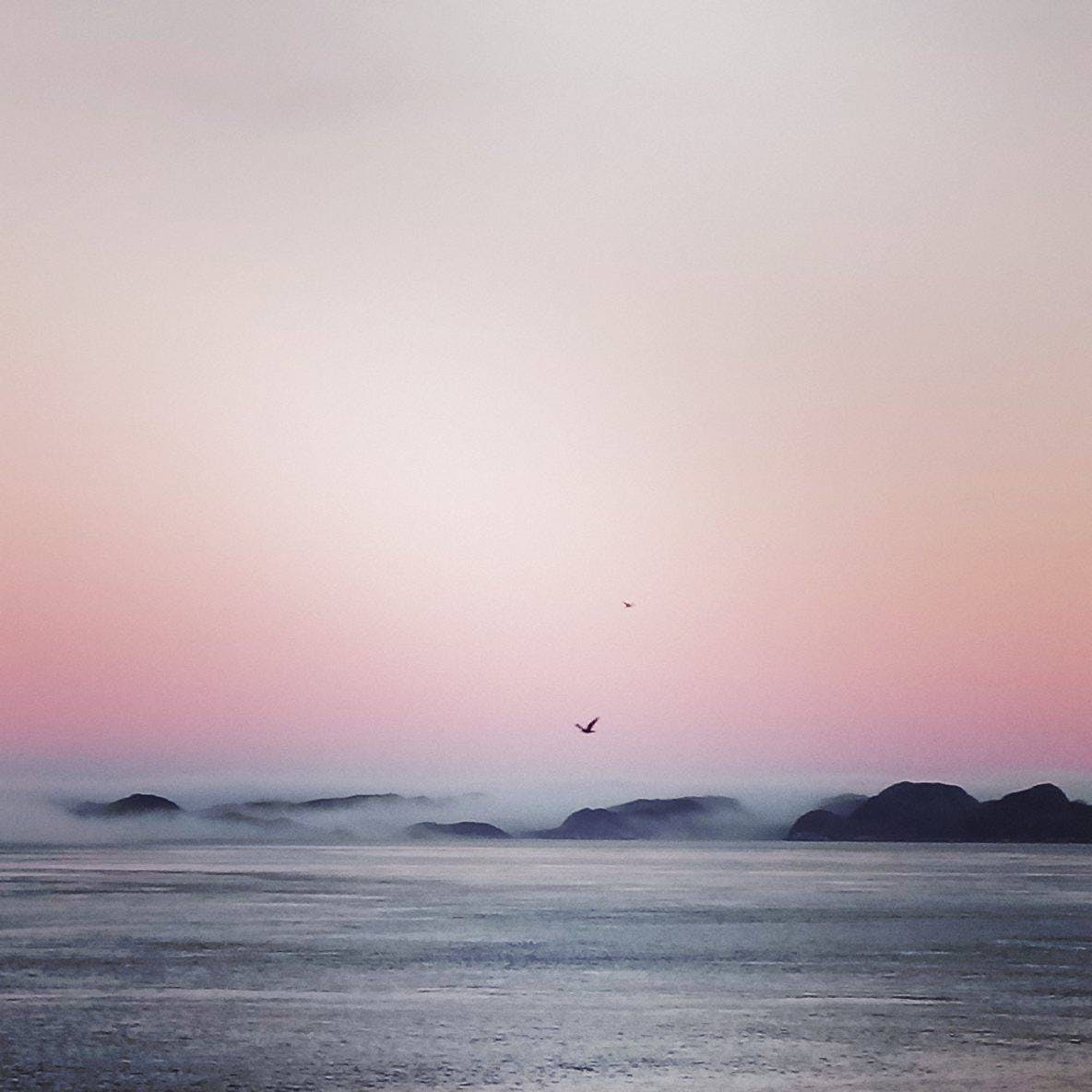 Blushing morning sky in Nuuk