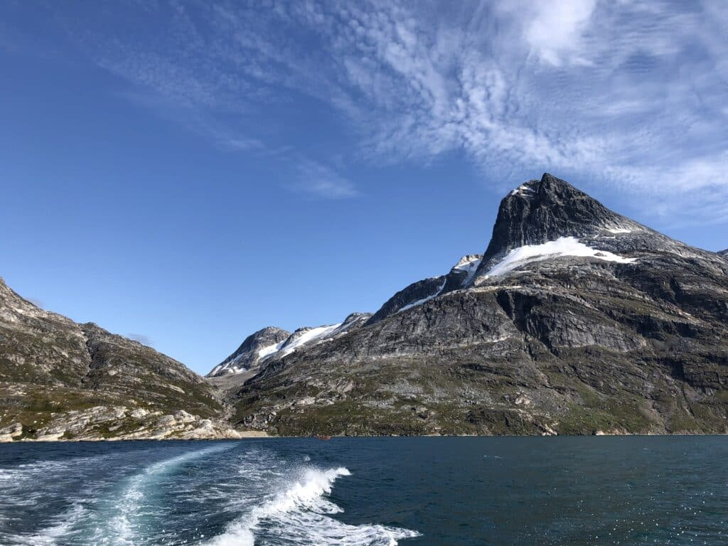 Mountian seen from the water