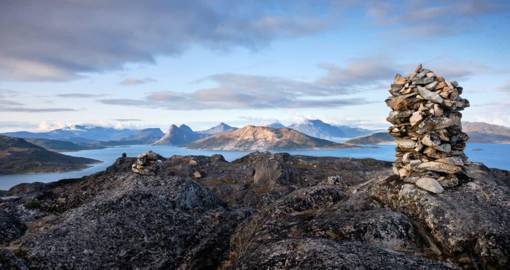 Carin and view above Qaqortoq