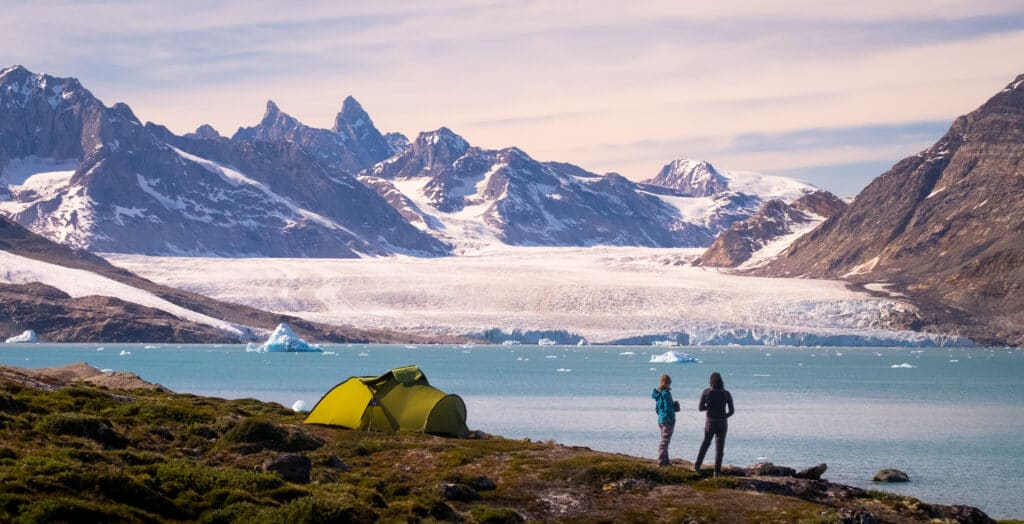Camping near the Karale Glacier north of Tasiilaq and Kulusuk on a long-distance hiking tour in East Greenland - Guide to Greenland
