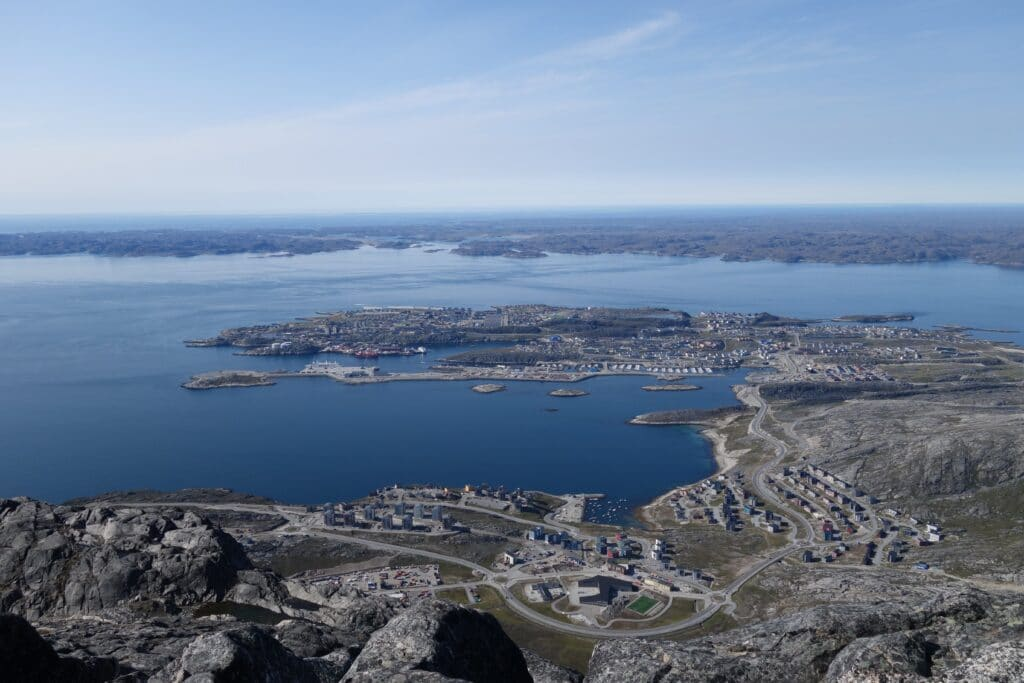 Nuuk from the top of Store Malene