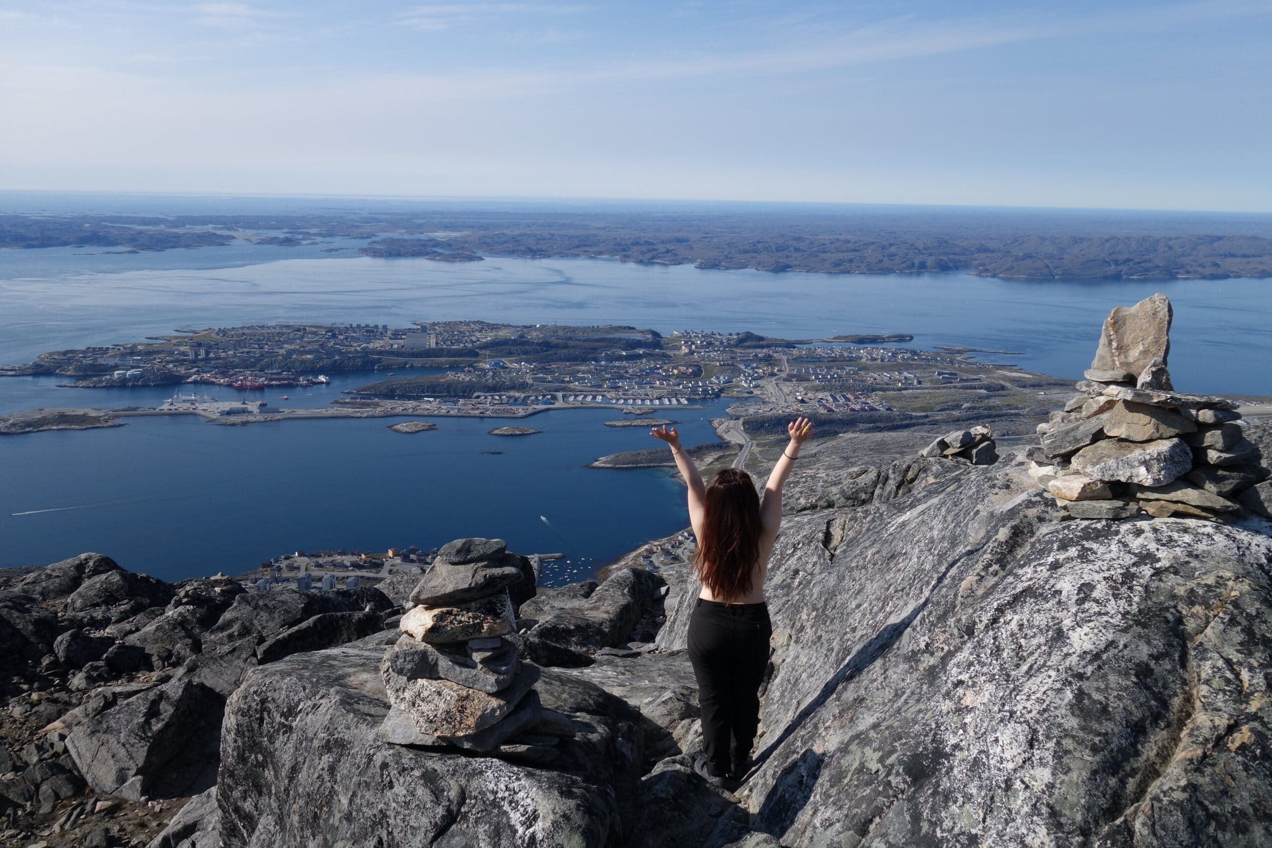 Climbing in Nuuk – To Ukkusissat (aka. Store Malene, 775m) – A mountain with amazing view in Nuuk