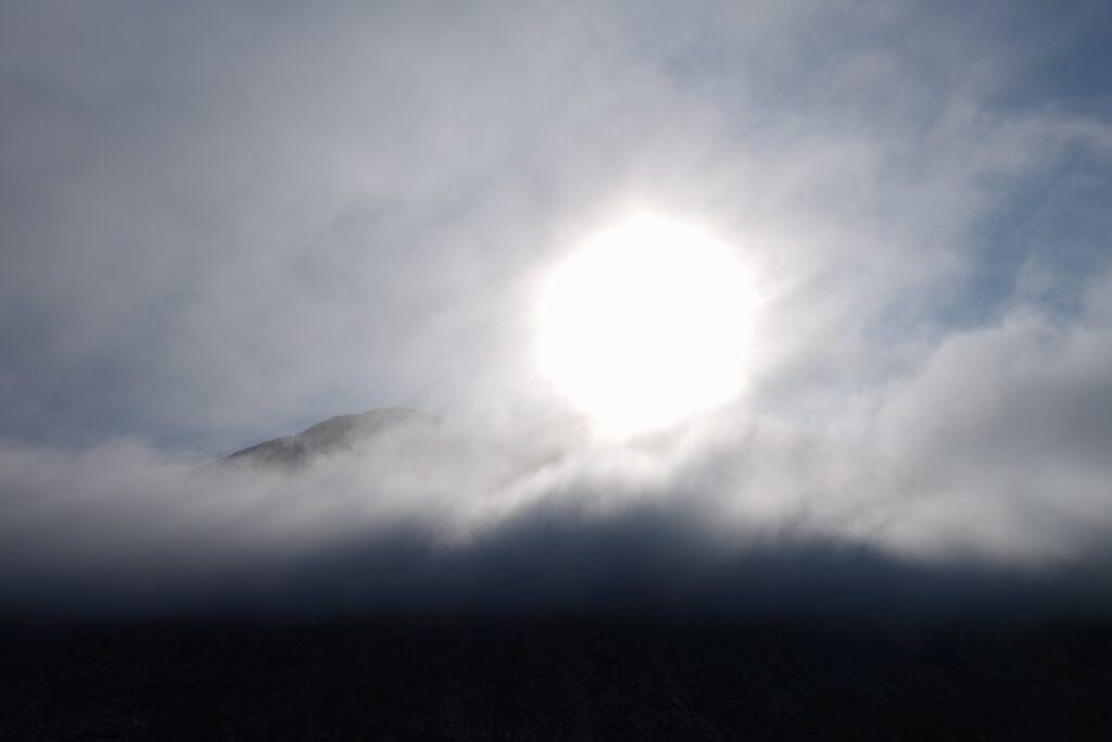 Fog blocking the sun