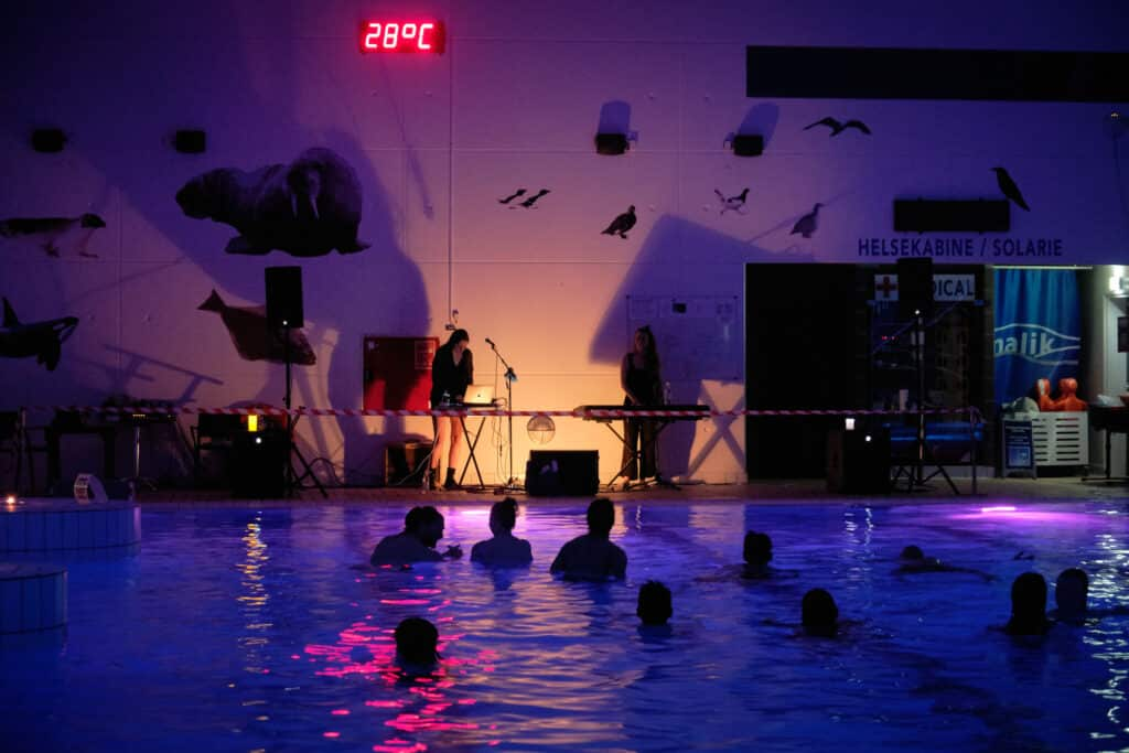 One of the concert evenings in Nuuk's award-winning swimming pool Malik