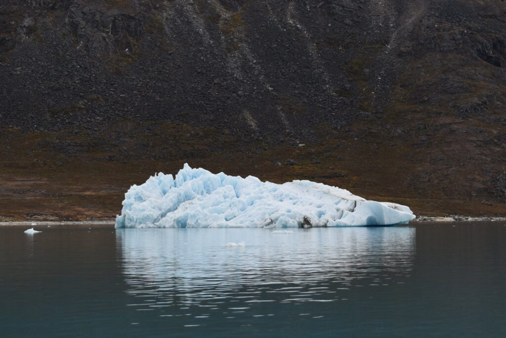 Large iceberg seen from a boat
