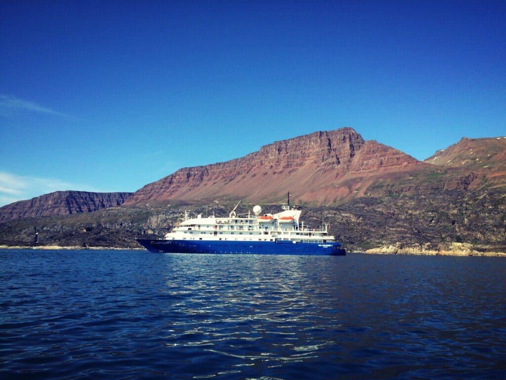 Cruise ship docking in Greenland