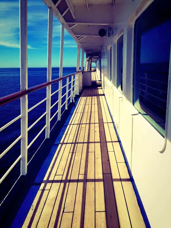 Pathway on a cruise ship