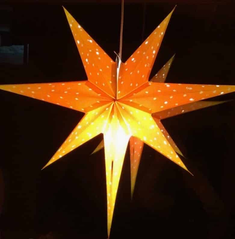 Christmas star in the window