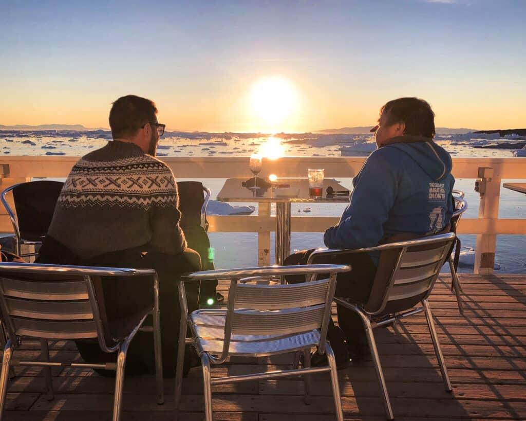 Midnight sun - Ilulissat