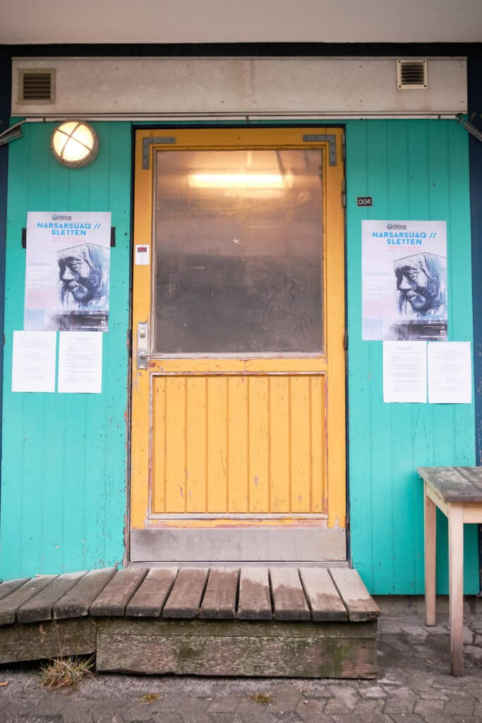 Entrance to the performance venue in Blok 2 in Nuuk