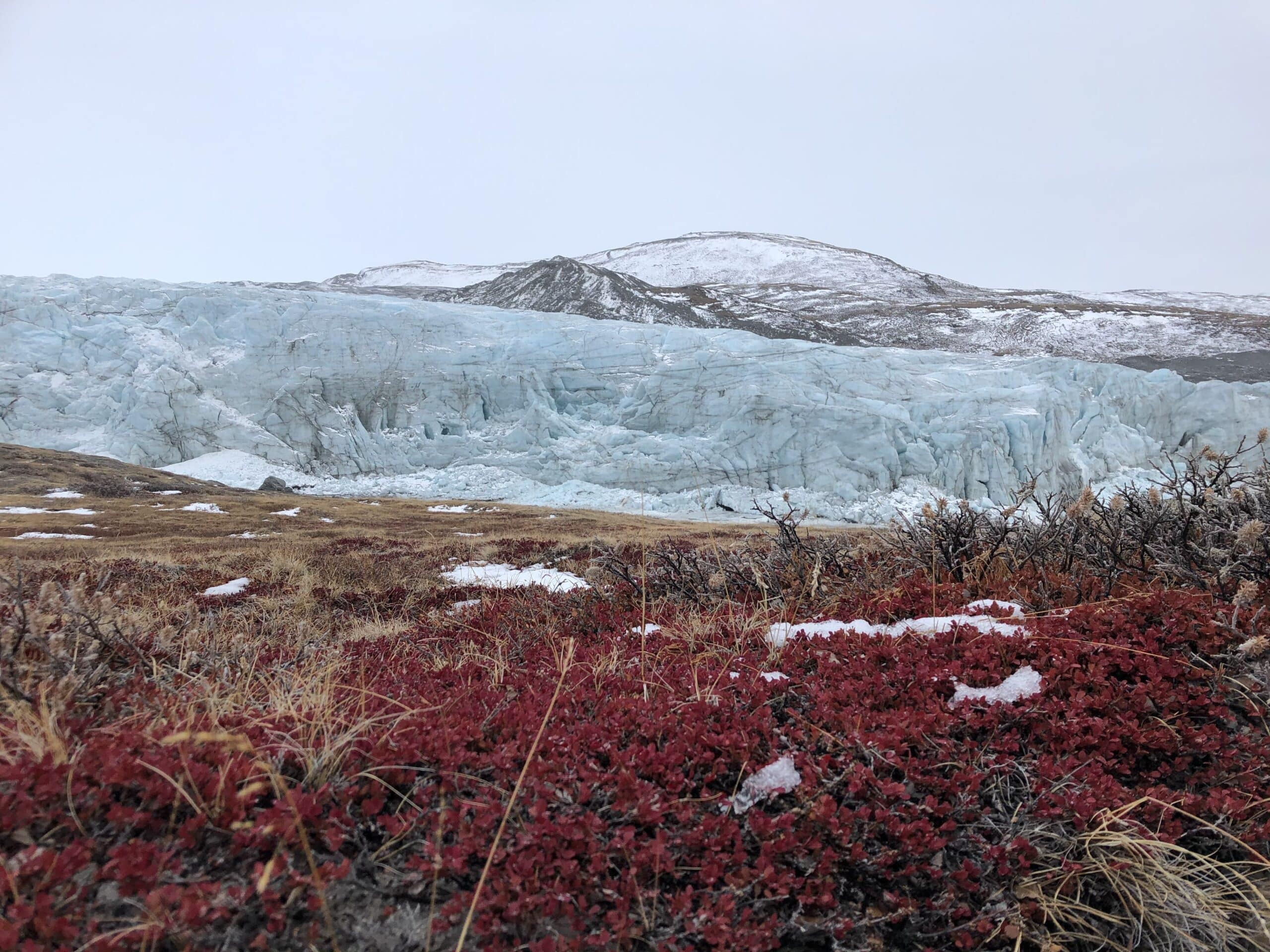 Face to face with Russell Glacier