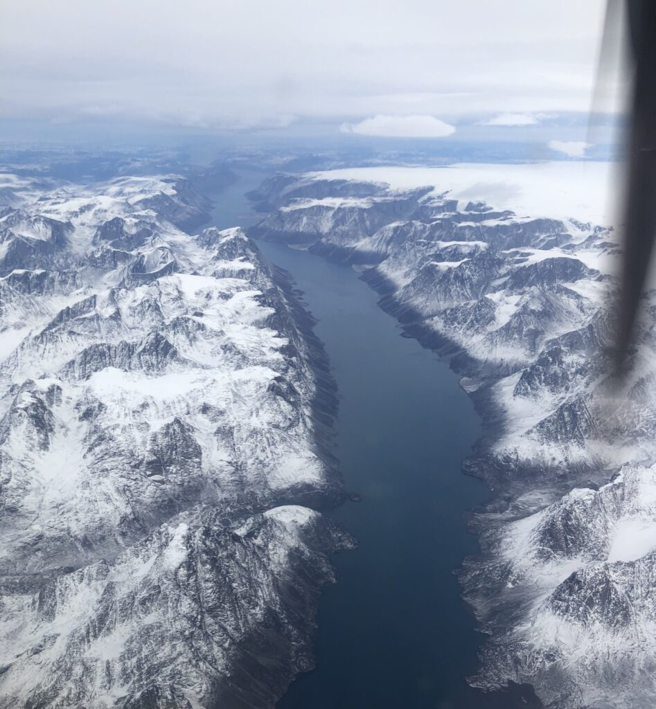 Fjord seen from the plane