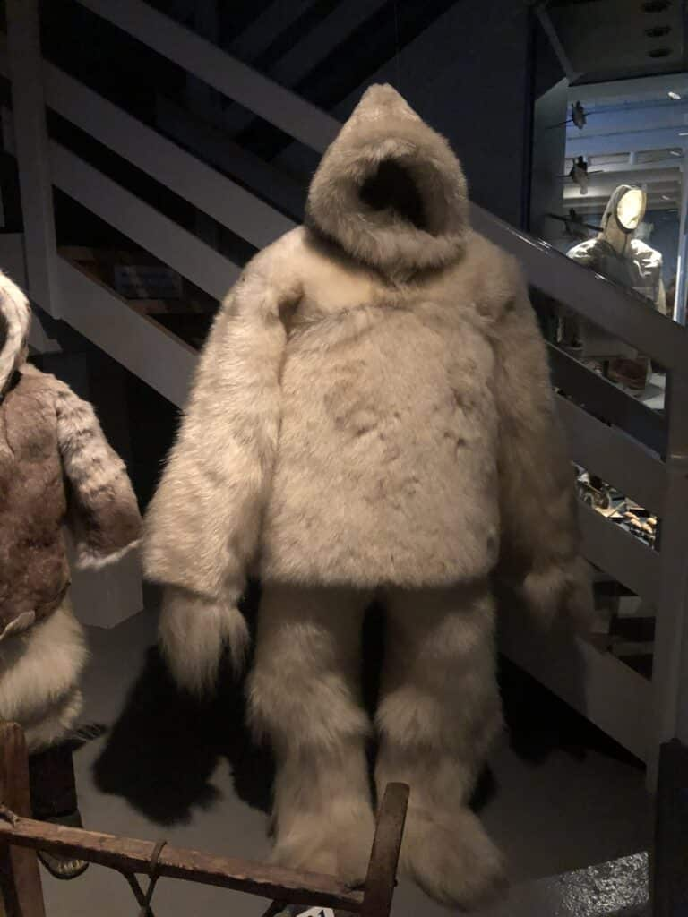 A suit made from polar bear