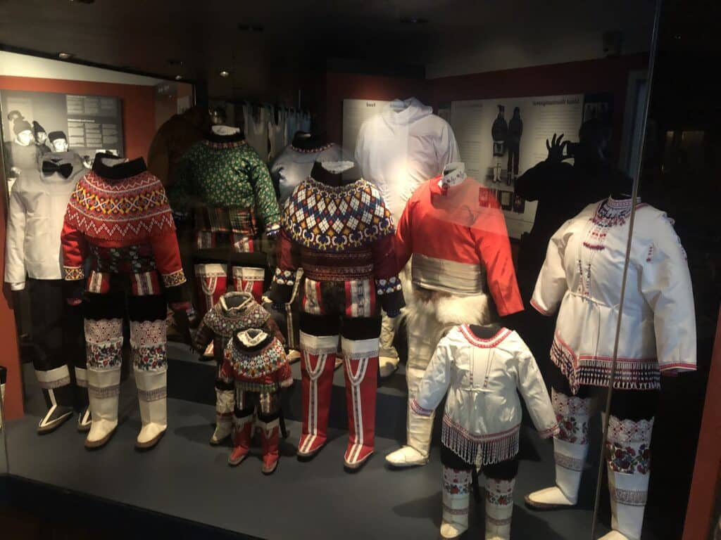 National costumes of Greenland at a museum in Greenland
