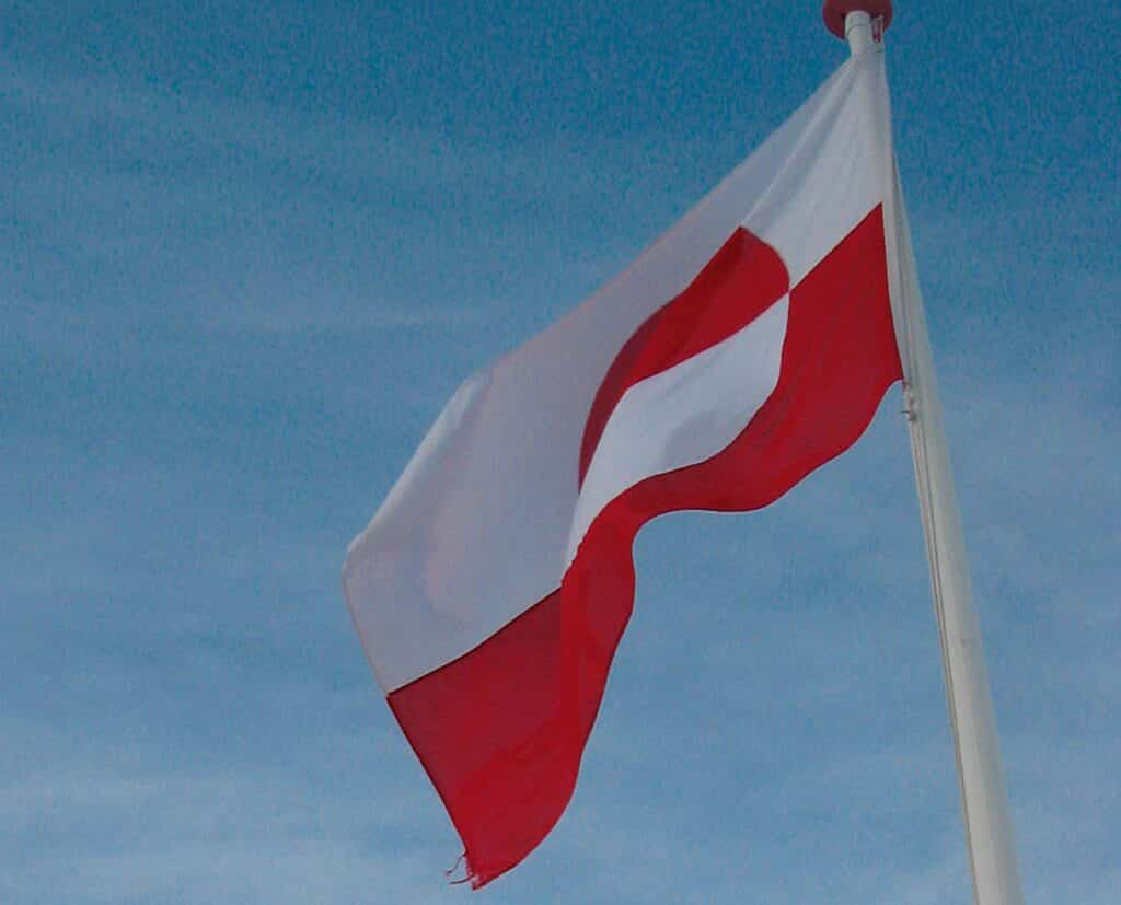 The Greenlandic flag