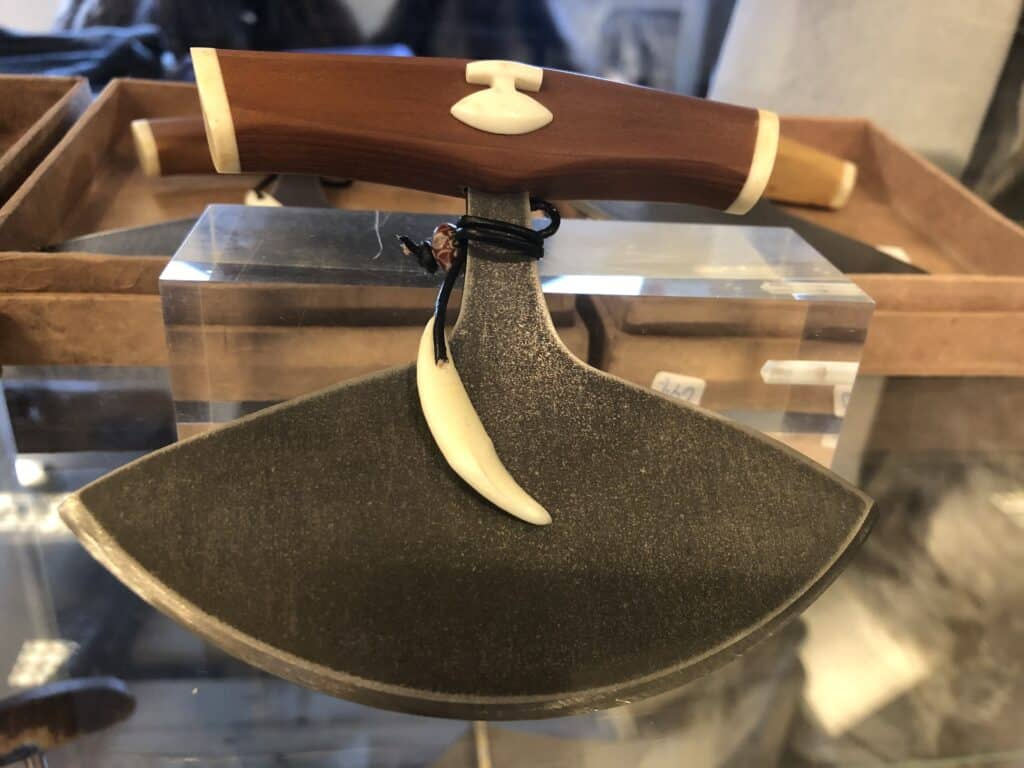 Special knife for skinning animals, Souvenirs in Greenland