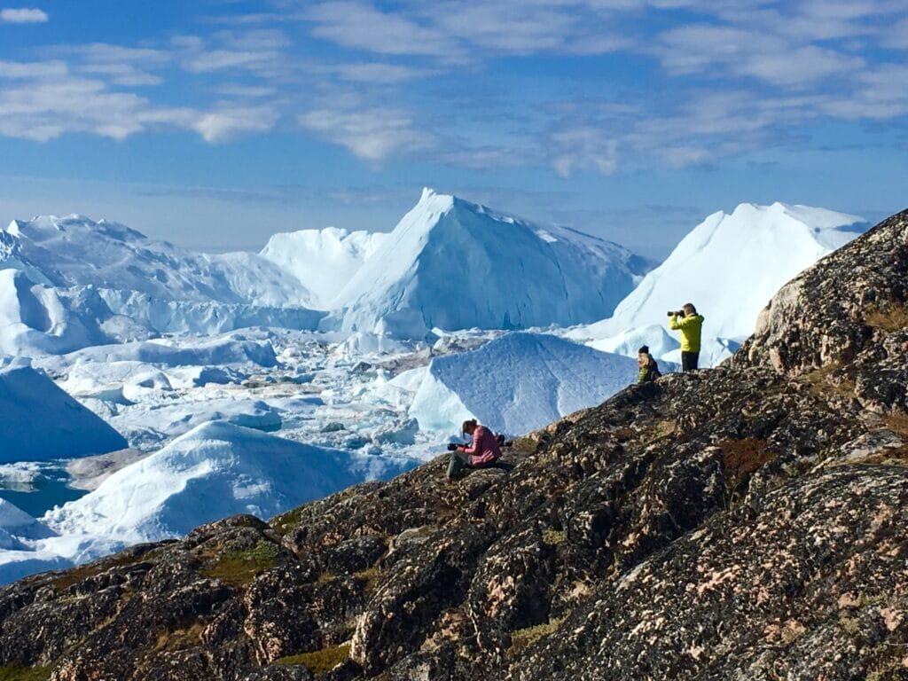 Icebergs in Ilulissat Icefjord