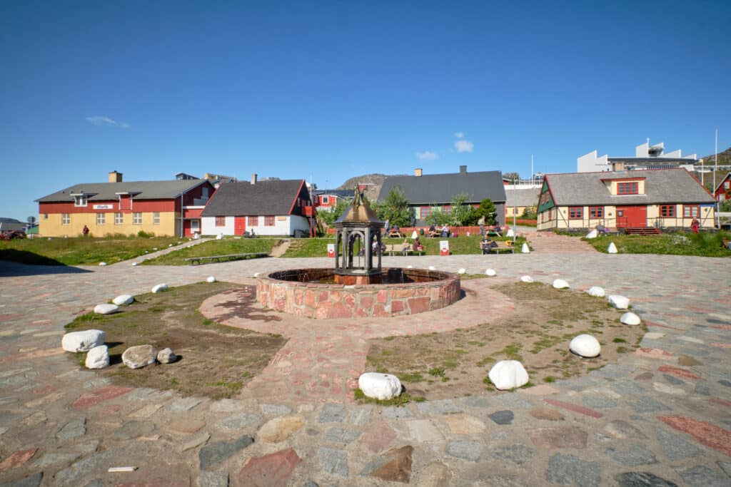 Main square of Qaqortoq
