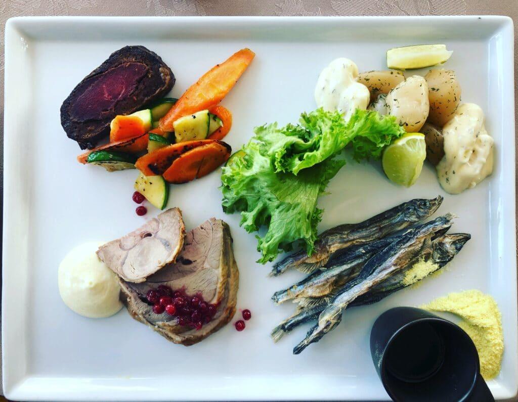 Food at Hotel Hand Egede