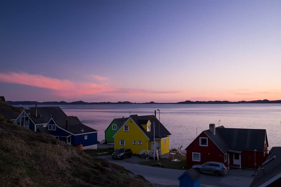 Midnight in Nuuk during the Summer