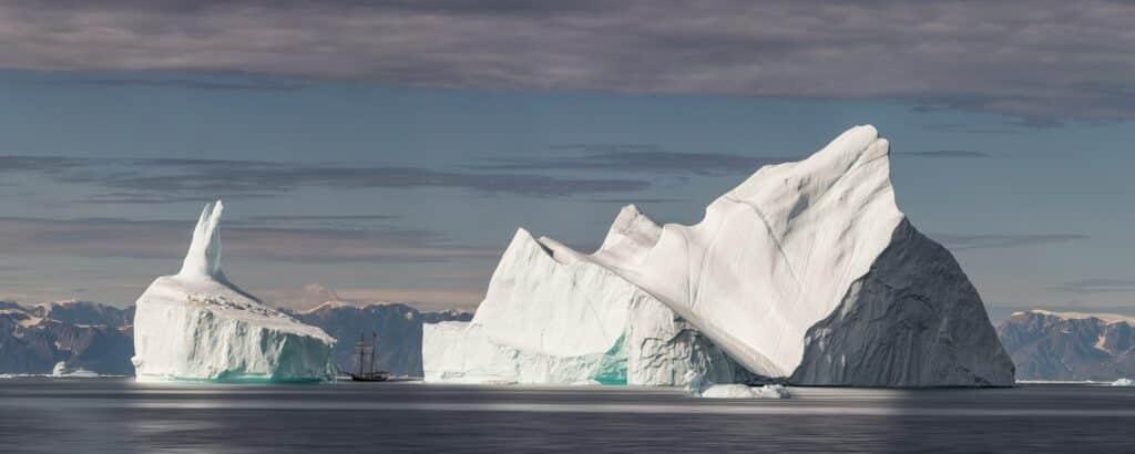 Gigantic icebergs in Ilulissat Isfjord