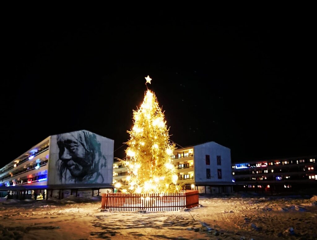 Christmas tree in Nuuk
