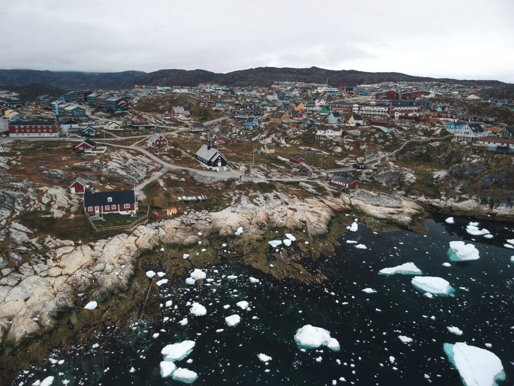 Ilulissat as seen from above