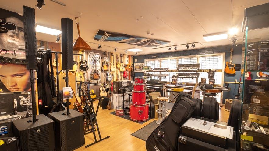Atlantic music shop in Nuuk