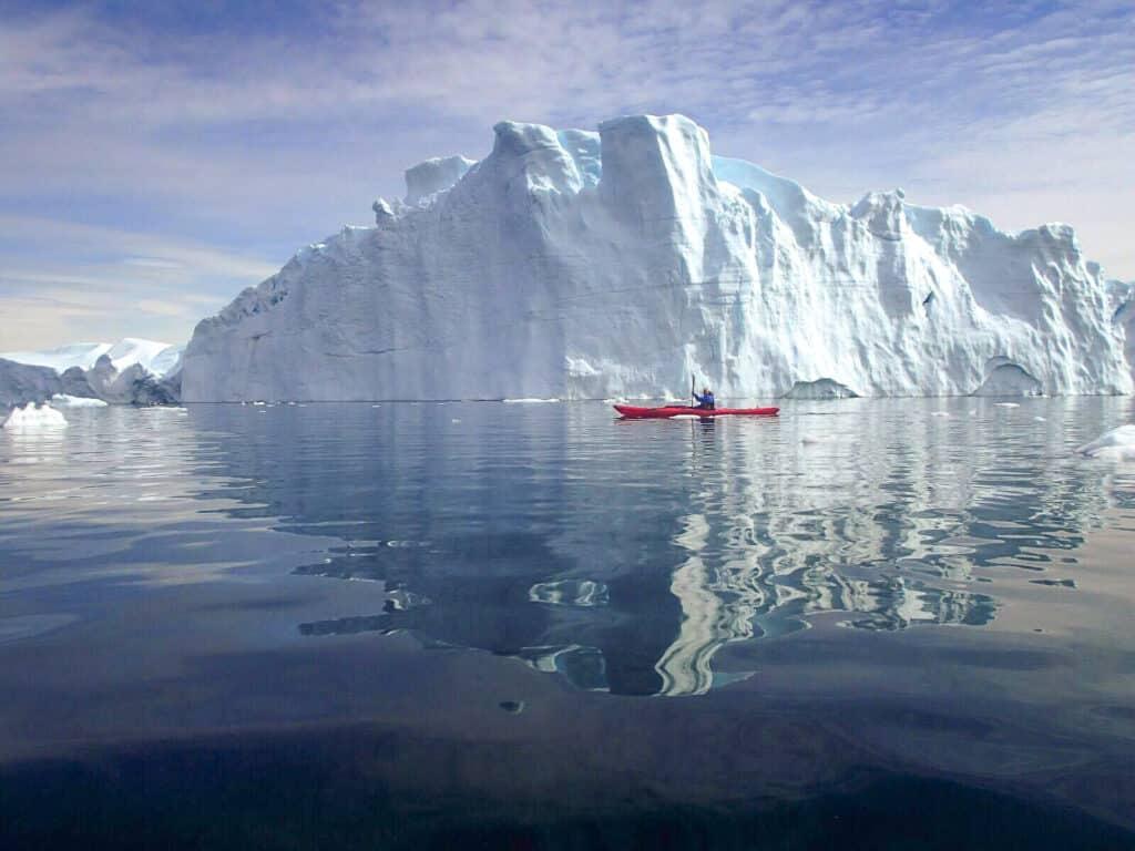 Kayaking at Ilulissat icefjord