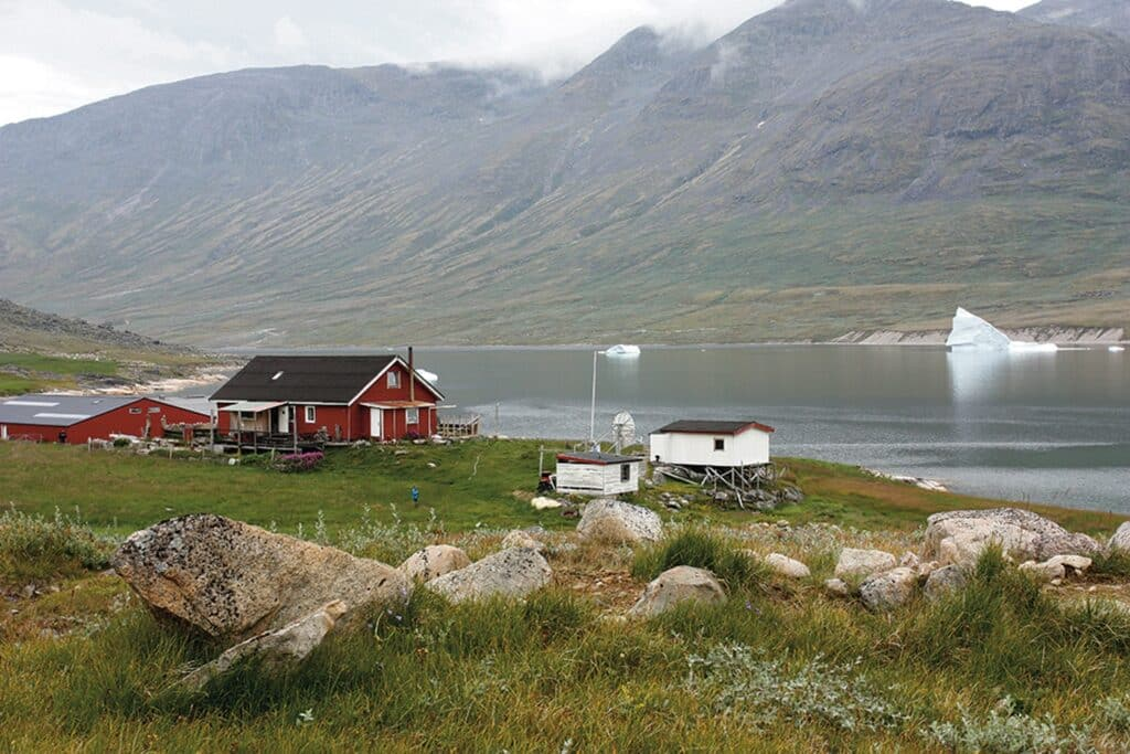 Small red house in the south of Greenland