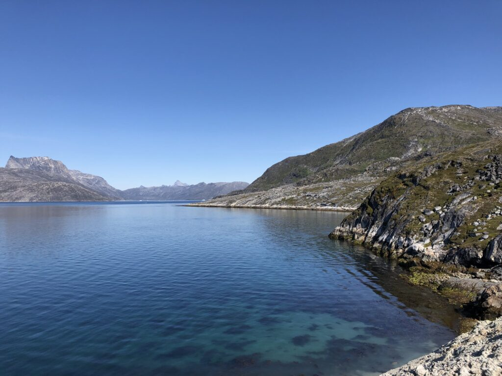 Calm water in the fjord