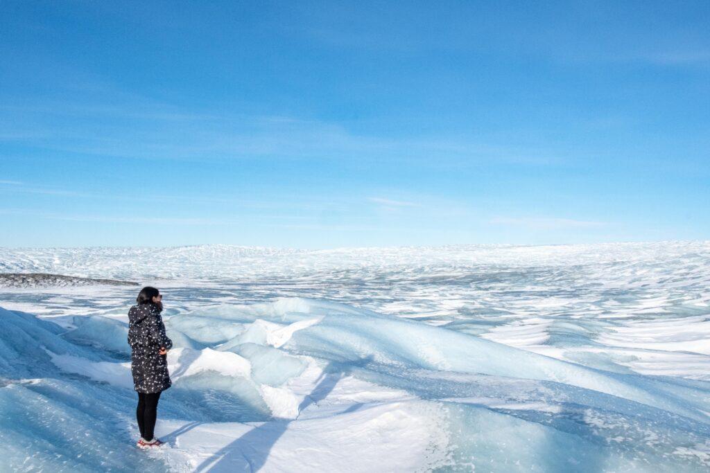 Ice sheet at Point 660 near Kangerlussuaq in Greenland