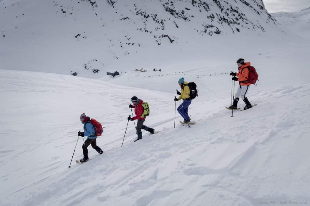 Snowshoeing near Tasiilaq