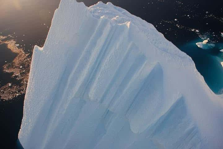 Melting glaciers in Greenland