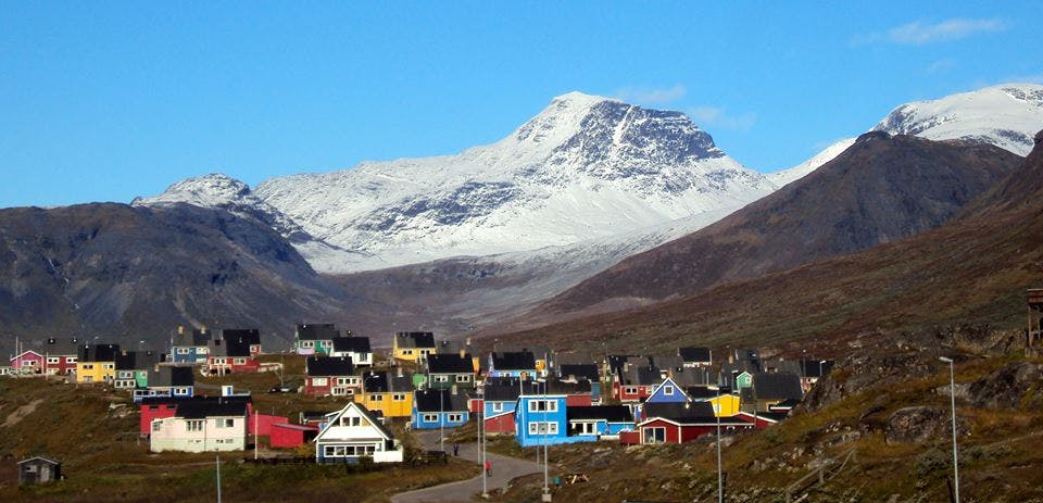 Colorful houses in Narsaq