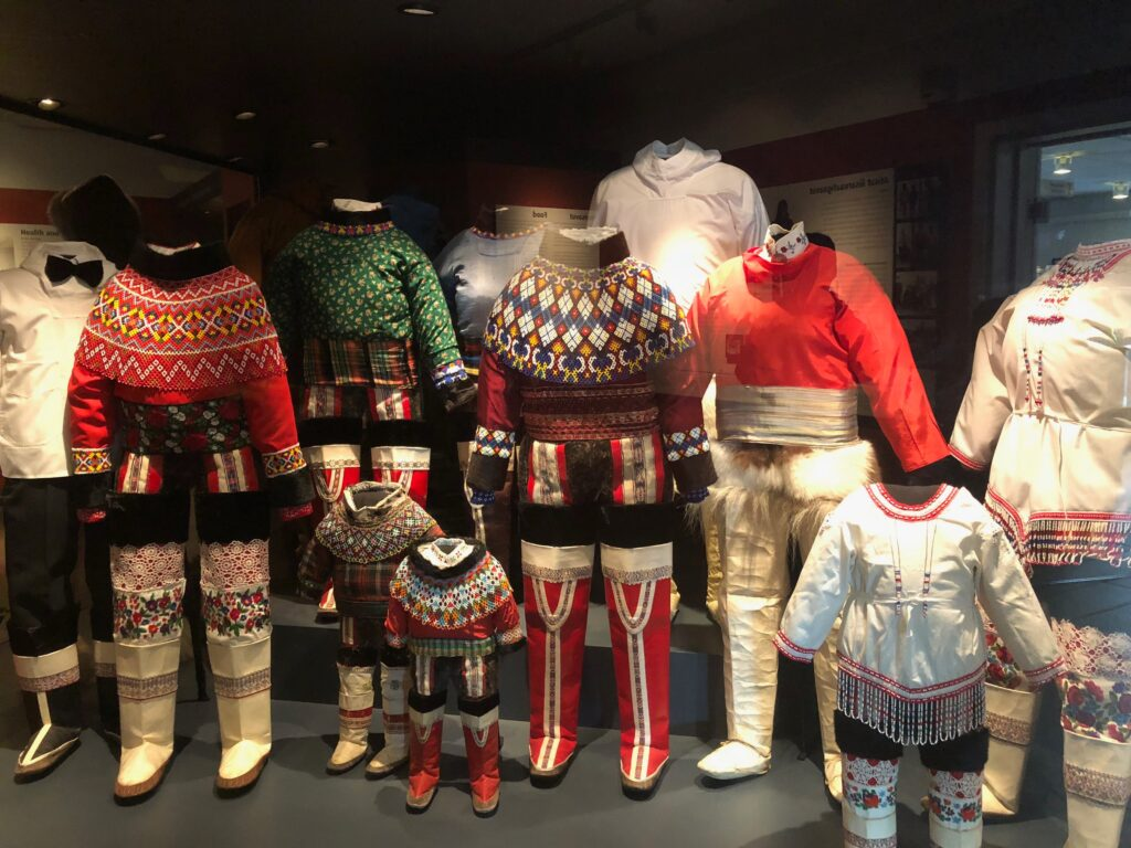 National clothes on display at the National Museum of Greenland